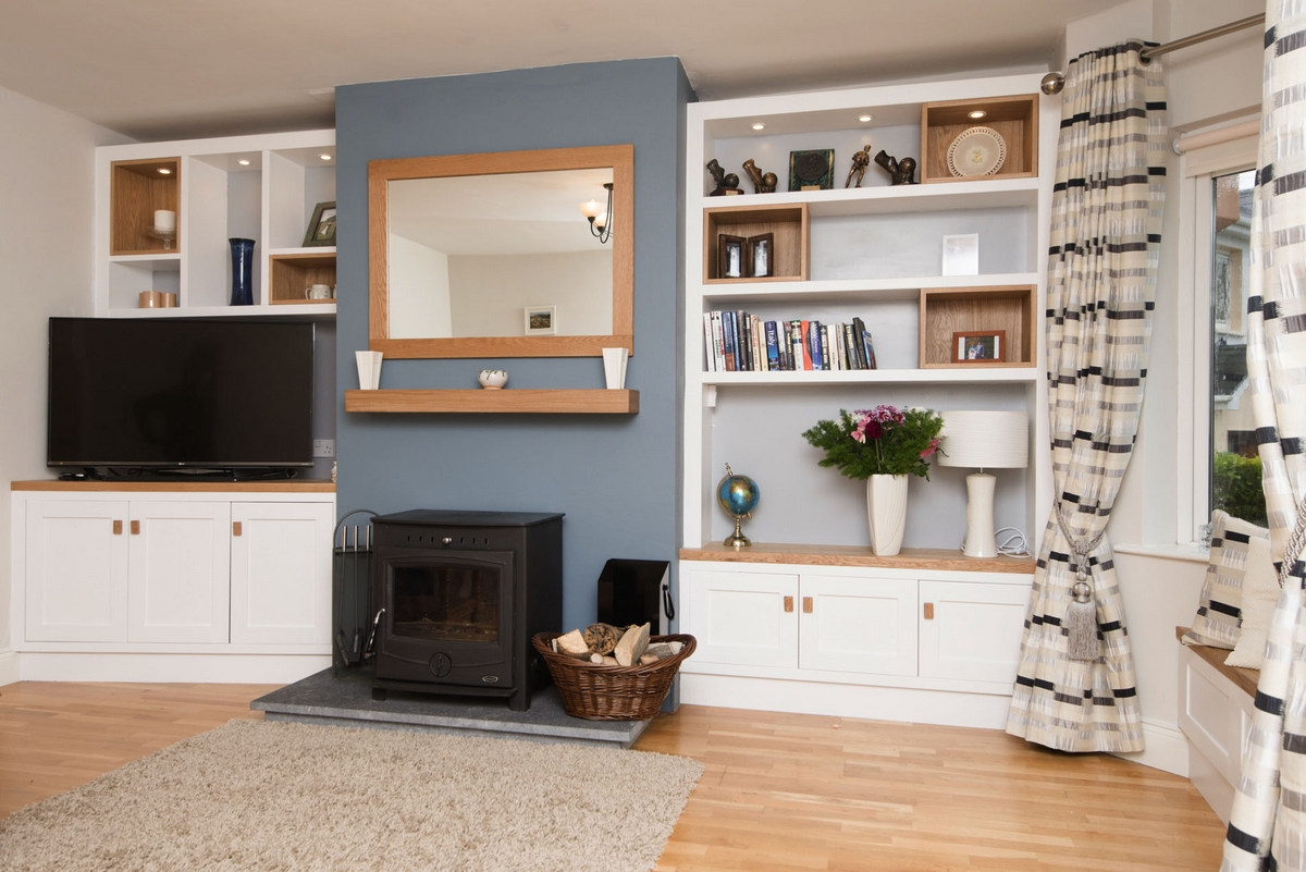 patrick lawless woodworking living room alcove cabinets ireland